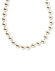 Akoya Pearl Necklace in 14 Kt. Yellow Gold 18 inches 6.5 7MM