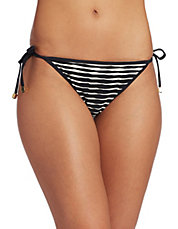 Ombre Striped String Bikini Bottom
