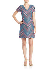 Zig-Zag Sheath Dress
