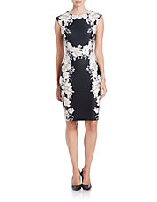 Sleeveless Flowered Sheath