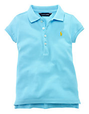 Girls 2-6x Stretch Mesh Polo