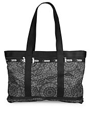 Large Printed Travel Tote Bag
