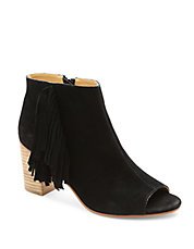 Erika Suede Open Toe Ankle Boots
