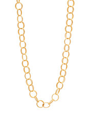 Goldtone Long Textured Ring Necklace