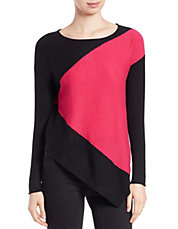 Colorblocked Cashmere Top