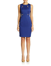 Cutout Detail Sheath Dress