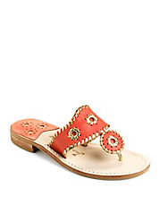 Nantucket Leather Sandals with Whipstitch Accents