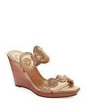 Luccia Stardust Leather Wedges