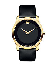Mens Museum Classic Goldtone Watch