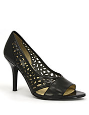 Liquorice Leather Pumps