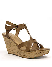Sarah Leather Sandal Wedges