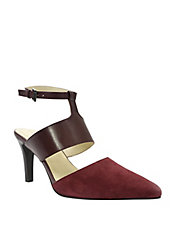 Comma Pointed-Toe Pumps