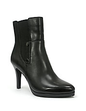 Gavin Leather Heeled Booties
