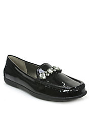 Tina Patent Leather Smoking Flats