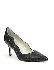 Candela Embossed Scalloped Pumps