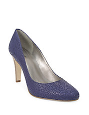 Naila Embossed Leather Pumps