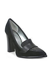 Aimee Stacked Heel Pumps