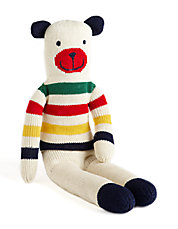 HBC Signature Collection Striped Knit Teddy Bear