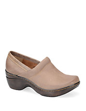 Shannie Leather Platform Clogs