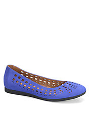 Pami Cutout Leather Flats