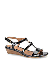 Ilissa Patent Leather Wedge Sandals