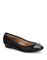 Selima II Perforated Suede Flats