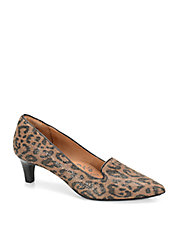 Vesper Leopard-Print Suede Point Toe Loafer Pumps