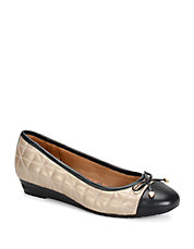 Shonda Colorblocked Leather Ballet Flats