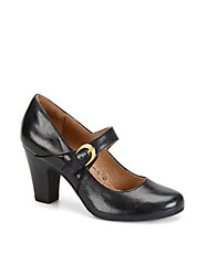 Miranda Leather Mary Jane Pumps