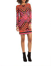 Graphic Printed Sheath Dress