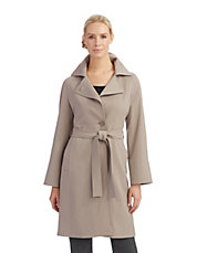 Asymmetrical Button Trench Coat