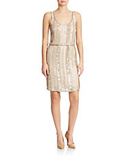 Sequined Blouson Dress