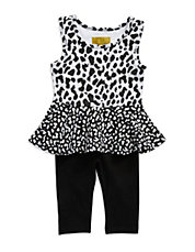 Girls 2-6x 2-Piece Animal Print Set