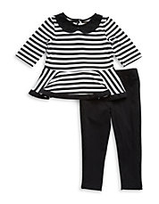Girls 2-6x Two-Piece Striped Tunic And Leggings Set