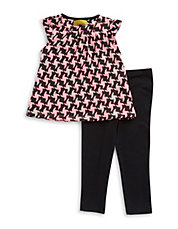 Girls 2-6x Two-Piece Top and Leggings Set