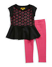 Girls 2-6x Two-Piece Cutout Set