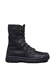 Pallabrouse Leather Lace-Up Boots
