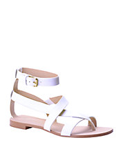Crete Leather Toe Ring Sandals