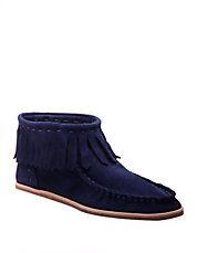 Bennie Suede Moccasin Ankle Boots