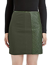 Avela Quilted Leather Skirt