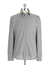 Block Striped Button Down