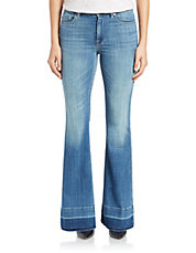 Tailorless Ginger Let-Down Hem Jeans