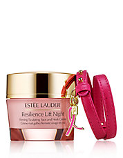 Dream Pink Two-Piece Resilience Lift Night Firming and Sculpting Creme and Bracelet Set