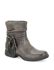 Cross Knotted Suede Ankle Boots
