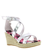 Caye Heather Faux Leather Wedges
