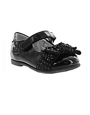 Kitty Embellished Patent Leather Grip-Tape Shoes