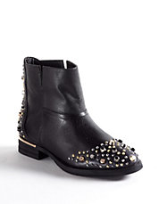 Madge Leather Studded Boots
