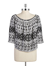 Patterned Off-the-Shoulder Top