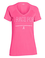 Power In Pink Race V Neck Tee