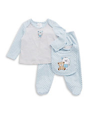 Three-Piece Microdot Teddy Bear Set